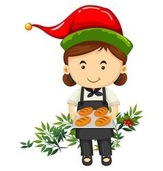 Christmas bread baked baker vector