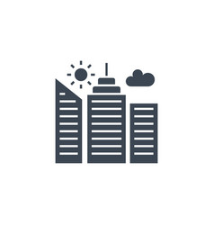 city building related glyph icon vector image