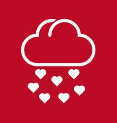 Cloud and rain of love vector