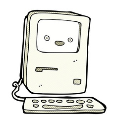 comic cartoon old computer vector image