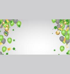 design banner on st patricks day effect clover vector image