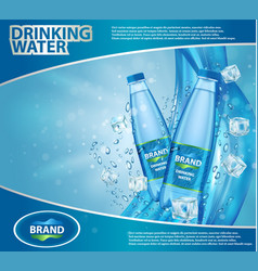 drinking water ad realistic vector image