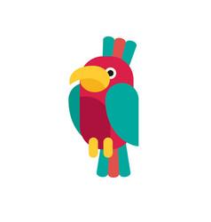 Flat parrot vector