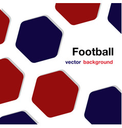 football red blue hexagon white background vector image