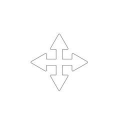 Four side arrow flat icon vector