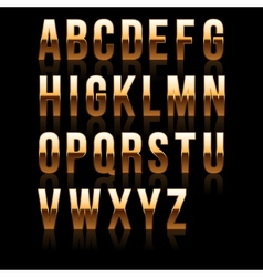 Gold Font Set 1 File contains graphic style vector