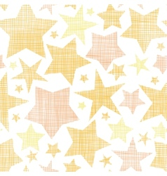 Golden stars textile textured seamless pattern vector image