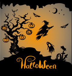 Halloween scary background vector