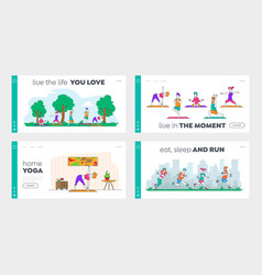 Healthy lifestyle outdoor and indoor workout vector