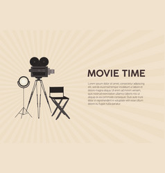 horizontal poster template for movie festival vector image