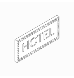 Hotel sign icon isometric 3d style vector