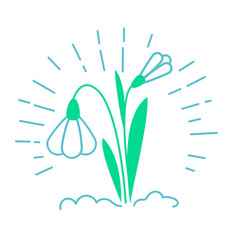 icon of a snowdrop vector image