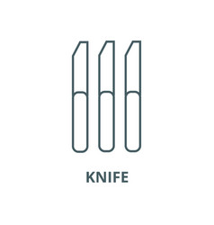 knife line icon linear concept outline vector image