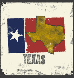 Label with map texas vector