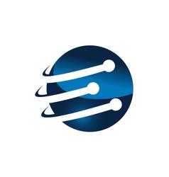 letter e technology vector image