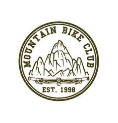 Logo design mountain bike club est 1998 vector