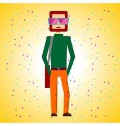 man standing with hands in pockets vector image