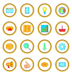 marketing icons circle vector image