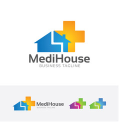 medical house logo vector image