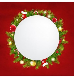 Merry christmas festive card vector