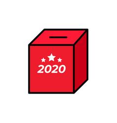 minimalistic a red ballot box symbol vector image