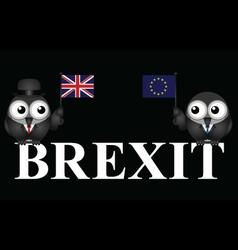 Monochrome UK exit from the European Union vector image