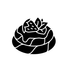Pavlova black glyph icon vector