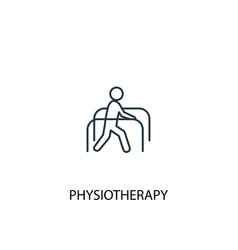 Physiotherapy concept line icon simple element vector