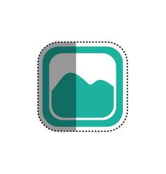 Picture of landscape symbol vector