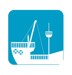 Picture ship maritime transpotation vector