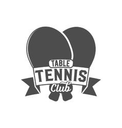 ping pong emblem label badge and designed vector image
