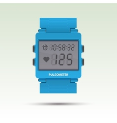Pulsometer of heart beat rate monitor vector