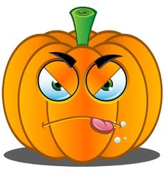 Pumpkin face 6 vector