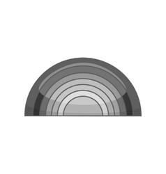 Rainbow icon black monochrome style vector
