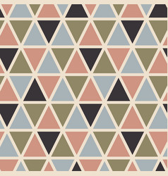 retro seamless pattern with triangles vector image