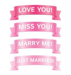romantic ribbons vector image