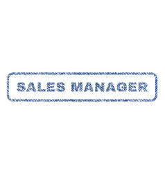 Sales manager textile stamp vector