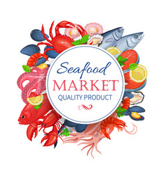 seafood product poster vector image