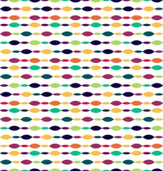 Seamless oval patternretro style abstract seamless vector