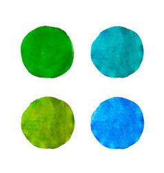Set colorful watercolor aquarelle vector