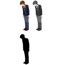 set male office worker vector image