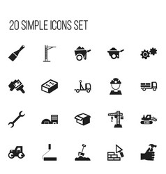 set of 20 editable construction icons includes vector image