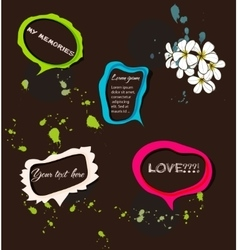 Set of bright speech bubbles vector image