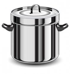 silver pan vector image