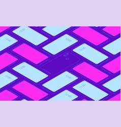 smartphone seamless flat isometric pattern for vector image