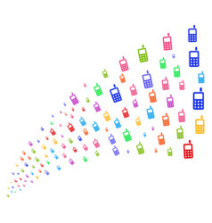 Source stream of cell phone vector
