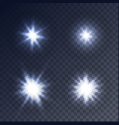 sparkling stars flickering and flashing lights vector image