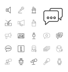 speech icons vector image