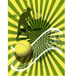 Sports background tennis vector