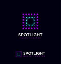 Spotlight logo show musical theater spots vector